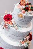 De mooie Cake van het Huwelijk Royalty-vrije Stock Afbeelding
