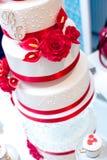 De mooie Cake van het Huwelijk Royalty-vrije Stock Afbeeldingen