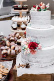 De mooie Cake van het Huwelijk Royalty-vrije Stock Foto