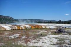 De mooie caldera bij yellowstone nationaal park Stock Afbeelding