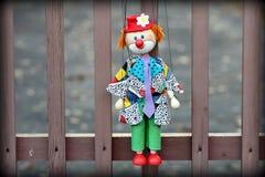 De mooie clown van de poppenmarionet Royalty-vrije Stock Fotografie