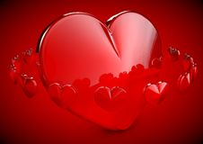 Illustratie van het Hart van de Liefde van Shinny 3D Stock Afbeelding