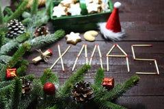 De mooie decoratie van Kerstmis stock foto