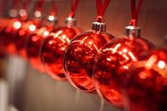 De mooie decoratie van Kerstmisballen Stock Foto's