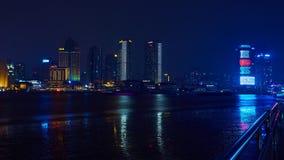 De mooie dijk van Shanghai bij nacht, China Royalty-vrije Stock Foto