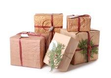 De mooie dozen van de Kerstmisgift Stock Fotografie