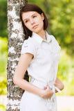 De mooie droevige vrouw van het portret Royalty-vrije Stock Fotografie