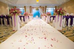 De mooie elementen van de het ontwerpdecoratie van de huwelijksceremonie Stock Foto