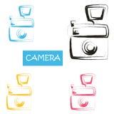 De mooie elementen van het waterverfontwerp Royalty-vrije Stock Foto