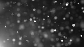 De mooie feest witte deeltjes zijn in ruimte, ondiepe velddiepte, computer geproduceerde achtergrond, 3D geef terug royalty-vrije illustratie