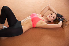 De mooie Fitness levensstijl van Vrouwensporten royalty-vrije stock afbeeldingen