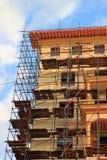 De mooie gele vernieuwde bouw Royalty-vrije Stock Afbeelding