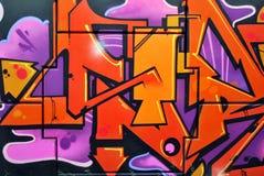 De mooie graffiti van de straatkunst stock afbeeldingen