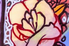 De mooie graffiti van de straatkunst Abstracte creatieve tekeningsmanier stock foto