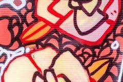 De mooie graffiti van de straatkunst Abstracte creatieve tekeningsmanier royalty-vrije stock afbeeldingen
