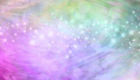 De mooie groene en roze kopbal van de bokeh sparkly website vector illustratie