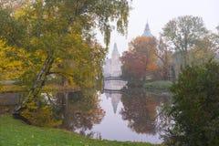 De mooie herfst in Hanover Maschpark Stock Afbeeldingen