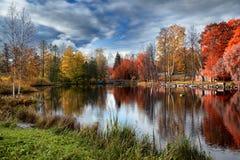 De mooie herfst in Karelië stock fotografie