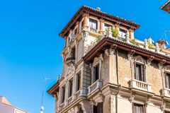 De mooie historische bouw van oude architectuur in stadsce Royalty-vrije Stock Fotografie