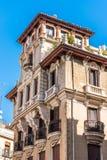 De mooie historische bouw van oude architectuur in stadsce Stock Foto