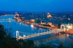 De Mooie Hoofdstad van Boedapest in Hongarije stock foto's