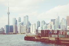De mooie horizon van Toronto ` s over meer Toronto, Ontario, Canada stock afbeeldingen
