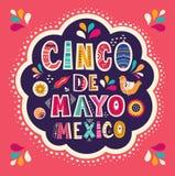 De mooie illustratie met ontwerp voor Mexicaanse vakantie 5 kan Cinco De Mayo