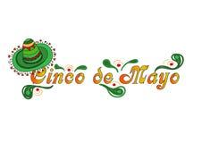 De mooie illustratie met ontwerp voor Mexicaanse vakantie 5 kan Cinco De Mayo Vectormalplaatje met traditionele Mexicaan vector illustratie