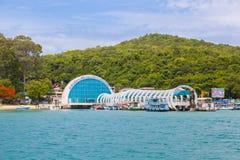 De mooie ingang van Samet-eiland wat voor alle vreemdeling en Thaise mensen aan welkom heten Stock Fotografie