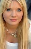 De mooie Jonge Vrouw van de Blonde Stock Foto