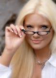De mooie Jonge Vrouw van de Blonde. Royalty-vrije Stock Afbeeldingen