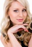 De mooie jonge vrouw van het portret Royalty-vrije Stock Foto