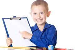De mooie Jongen in blauw chemise stock afbeeldingen