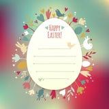 De mooie Kaart van Instagram Pasen Stock Foto's