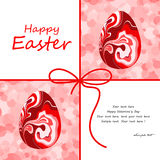 De mooie kaart van Pasen met eieren Stock Foto's