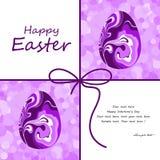De mooie kaart van Pasen met eieren Stock Afbeeldingen