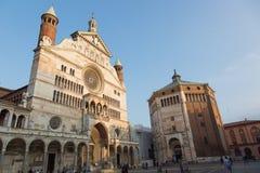 De mooie kathedraal van Cremona Stock Foto's