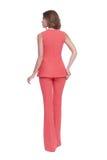De mooie kleren van de het haarslijtage van de glamour sexy vrouw donkere donkerbruine Royalty-vrije Stock Foto