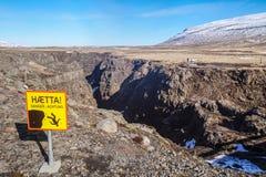 De mooie Kolugljúfur-Canion in IJsland stock foto's