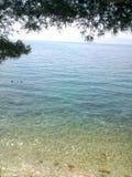 De mooie kustlijn van Kroatië ` s van klip Stock Foto