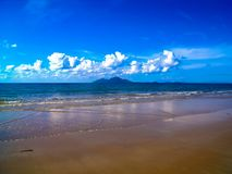 De mooie kustlijn van Opdrachtstrand, Australië Royalty-vrije Stock Afbeeldingen