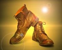 De mooie laarzen van het manierleer Royalty-vrije Stock Foto's