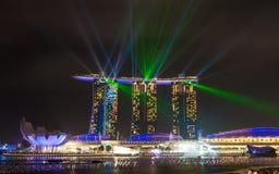 De mooie laser toont bij de Baai van de Jachthaven Stock Afbeeldingen