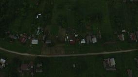 De mooie luchtmening van het plattelandslandschap stock footage