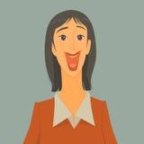 De mooie meisjesglimlach gelukkig is Stock Fotografie