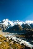 De mooie mening en de gletsjer in Onderstel Cook National Park, Zuiden zijn Royalty-vrije Stock Fotografie