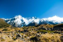 De mooie mening en de gletsjer in Onderstel Cook National Park, Zuiden zijn Stock Fotografie