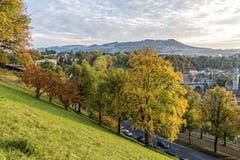 De mooie mening van de herfst van Bern Royalty-vrije Stock Foto