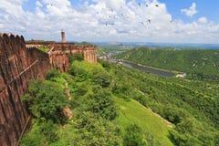 De mooie Mening van het Landschap van Fort Jaigarh Stock Fotografie