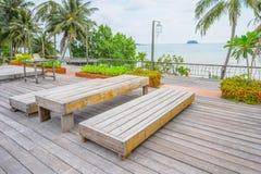 De mooie mening van het strandrestaurant in de Maldiven Royalty-vrije Stock Fotografie